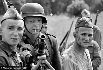 Съемки киноленты в Брестской крепости. Фотовзгляд в прошлое.
