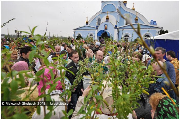 Православные верующие Бреста отпраздновали Вербное воскресенье