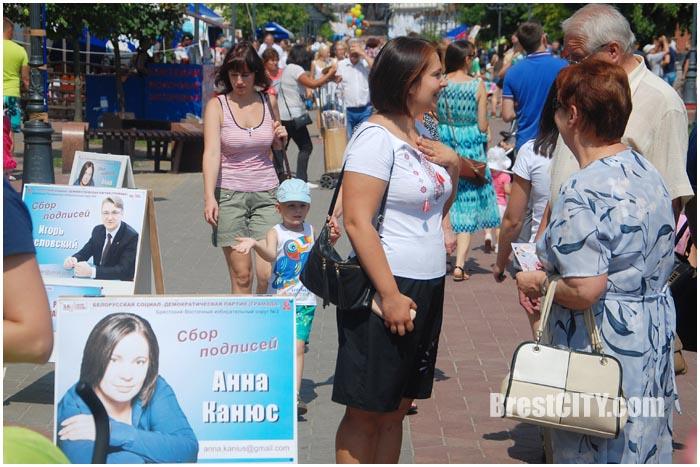 Сбор подписей в Бресте за кандидатов