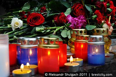 Акция памяти жертв теракта в минском метро