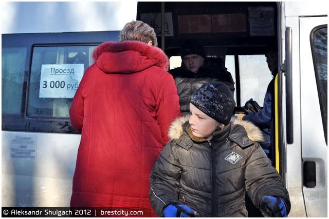 С сегодняшнего дня стоимость проезда в маршрутных такси города Бреста составляет три тысячи рублей.