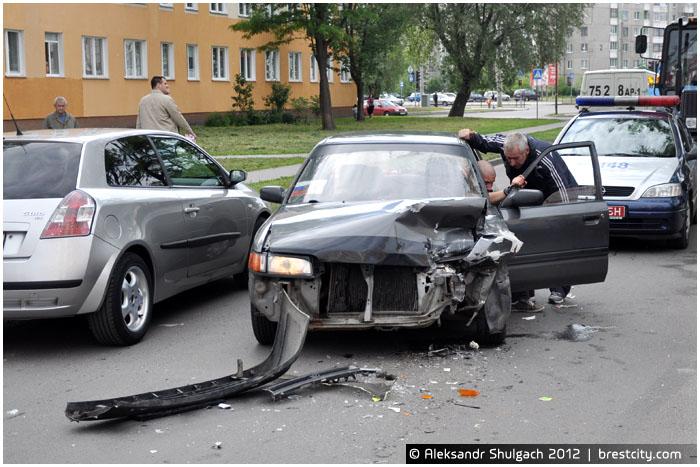 Авария в Бресте на улице Суворова