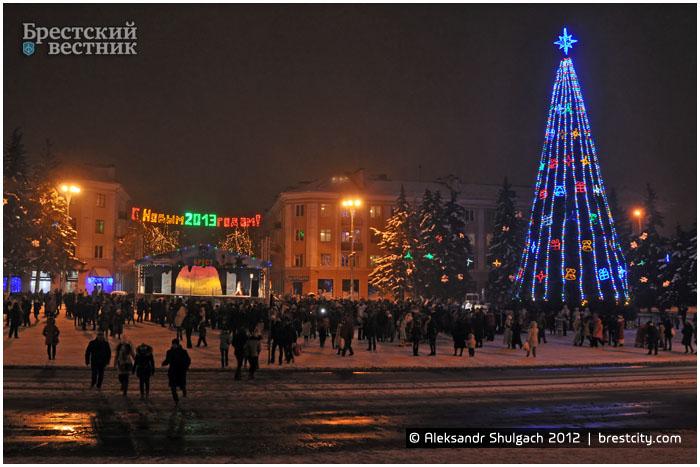 Открытие Новогодней елки на площади Ленина в Бресте