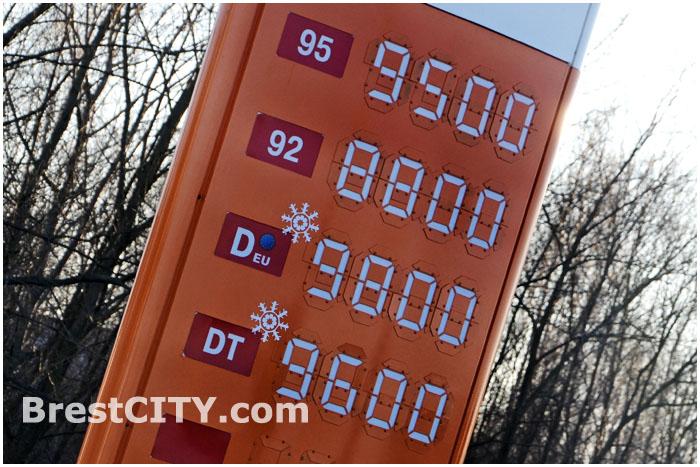 Цены на топливо в Беларуси с 28 декабря 2013