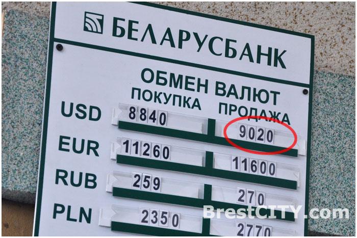 Курс доллара превысил 9 тысяч рублей