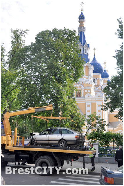 ДТП в Бресте на улице Мицкевича