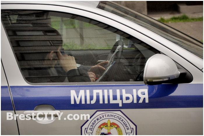 Нарушитель правил дорожного движения в машине ГАИ