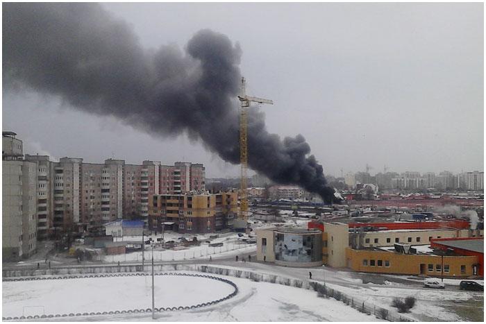 "Пожар на рынке ""Старый город"" в Бресте"
