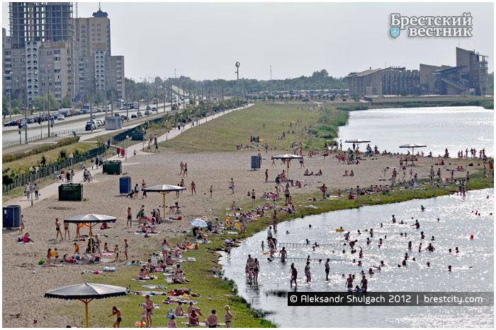 Пляж на Гребном канале Бреста
