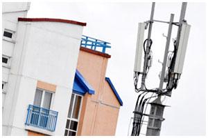 Вышка сотовой связи около дома