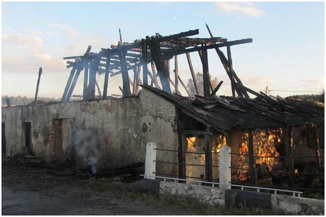 Мельница в деревне Волчин Каменецкого района