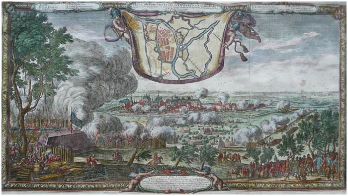 Гравюра Дальбега «Осада Бреста 1657 года»