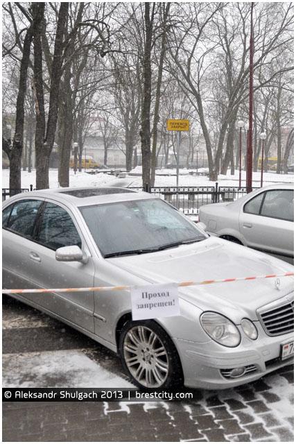 Пешеходный переход на Площади Свободы в Бресте закрыт