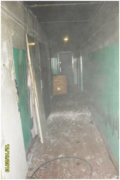 Пожар в доме на Набережной Бреста 14 октября 2013