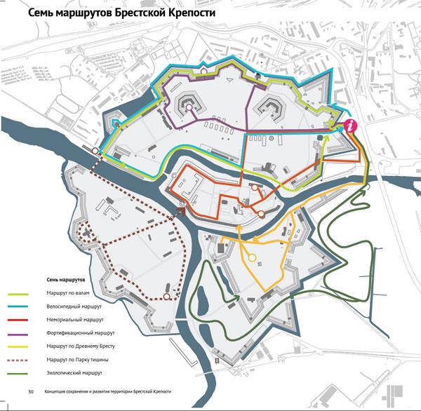 Проекты маршрутов в Брестской крепости