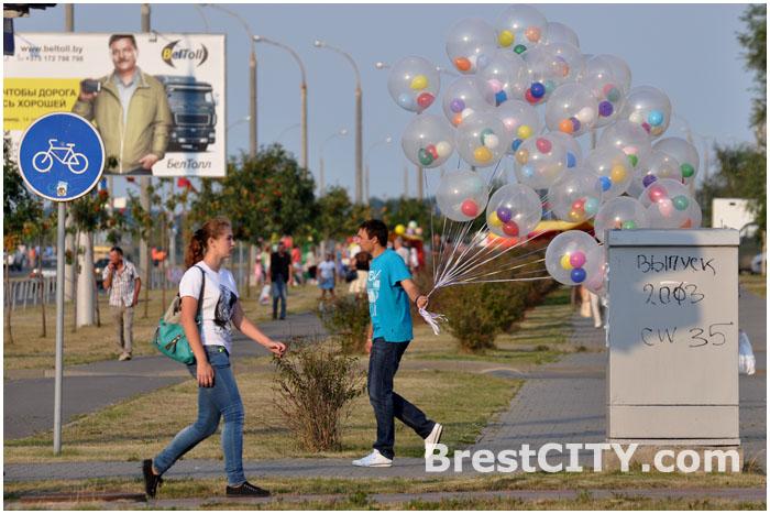 Праздничные шары на День города
