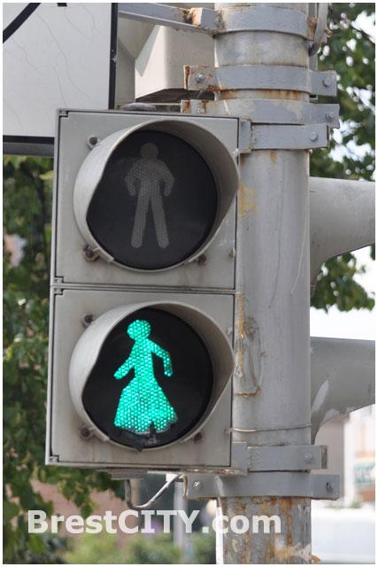 Пешеход-перевертыш в Бресте