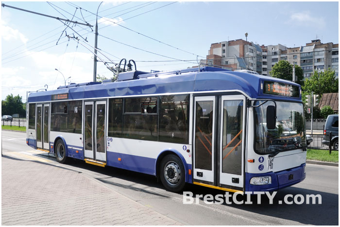 Троллейбусы, которые могут ездить без рог, в Бресте