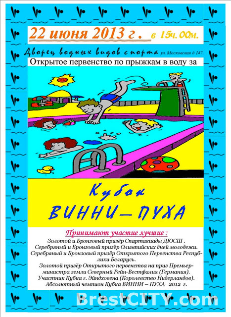 Кубок Винни-Пуха в Бресте 22 июня 2013