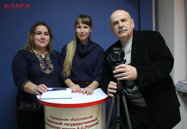 В Брестском педе снимают новости