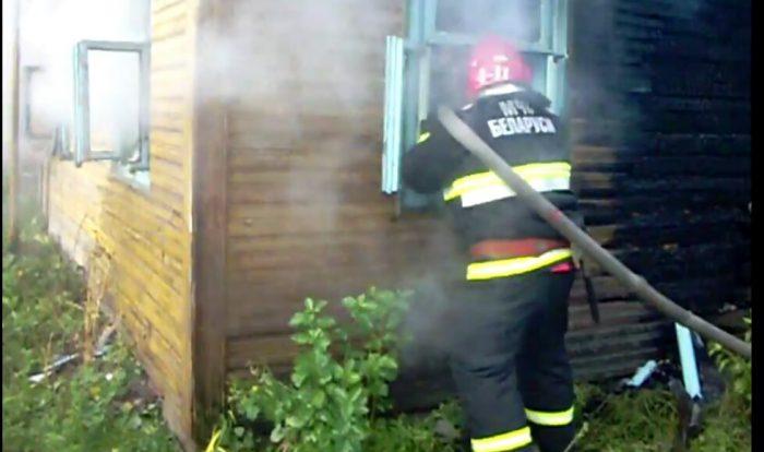 В Березовском районе на пожаре погиб человек